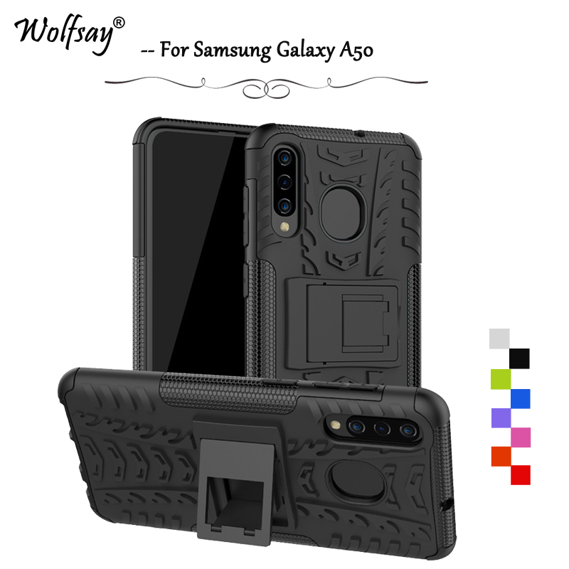For Samsung Galaxy A50 Case Shockproof Armor Rubber Hard Phone Case For Samsung Galaxy A50 Back Cover For Samsung A50 A 50 Shell image