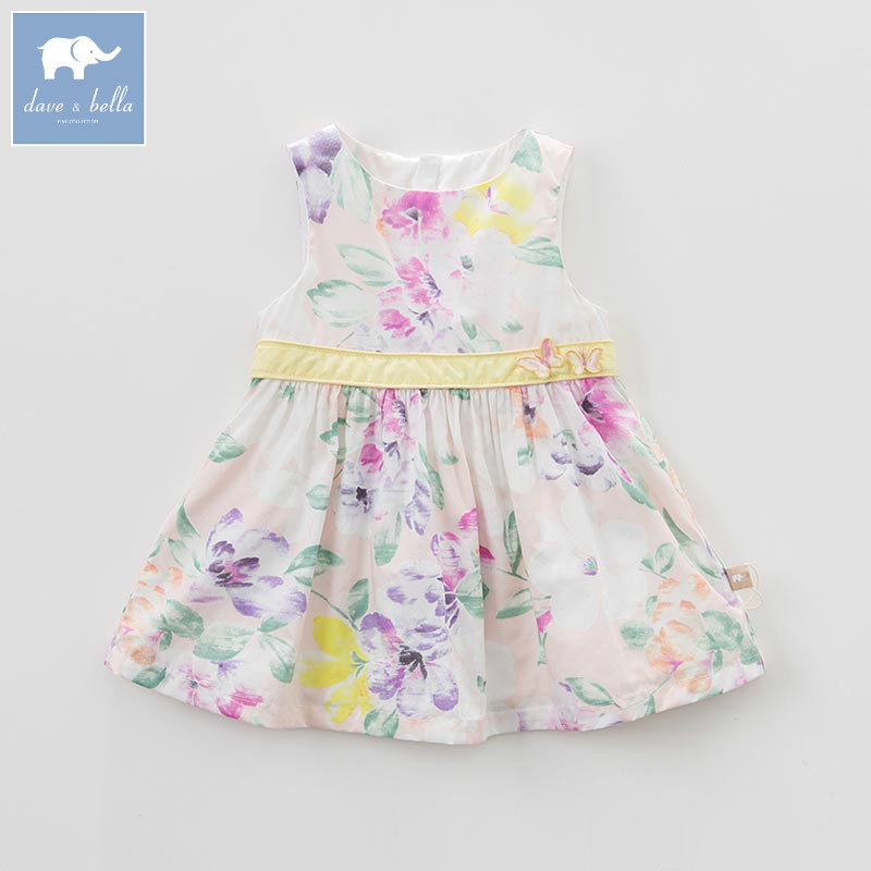 DBJ7300 dave bella summer baby girl's princess floral dress children birthday party wedding dress kids infant lolital clothes db7396 dave bella summer infant baby girls princess ballet dress children birthday party wedding dress kids lolital clothes