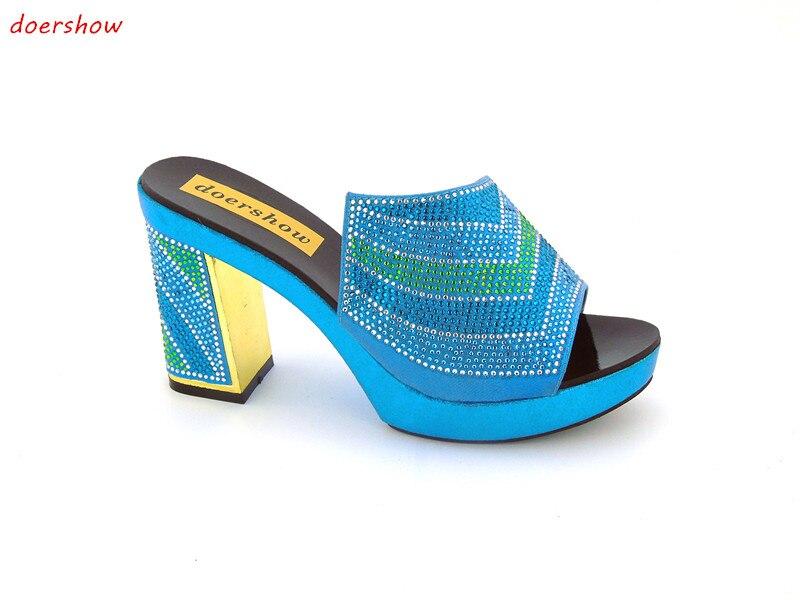 купить doershow African Slippers Summer High Heels High Quality African Sandals ! JK1-35 дешево