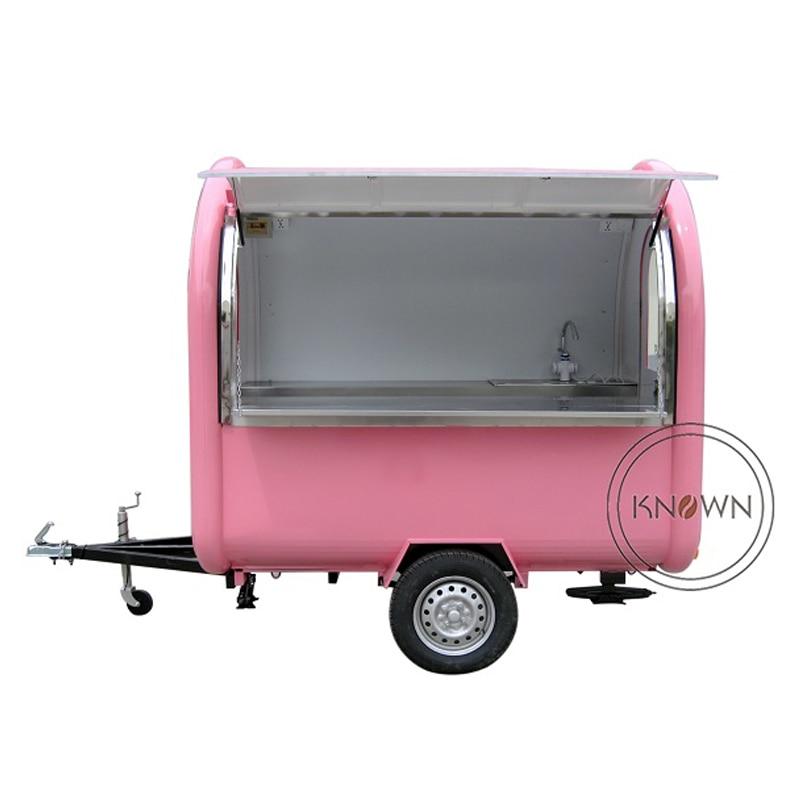 KN-220B mobile chariots de nourriture/remorque/camion de crème glacée/collation alimentaire chariots pour différentes couleurs avec livraison gratuite par mer