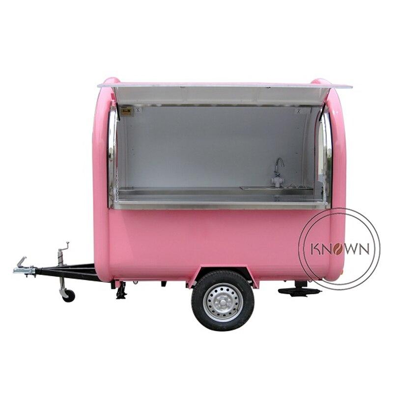 KN-220B mobile cibo carrelli/rimorchio/ice cream truck/snack cibo carrelli per i diversi colori con trasporto libero via mare