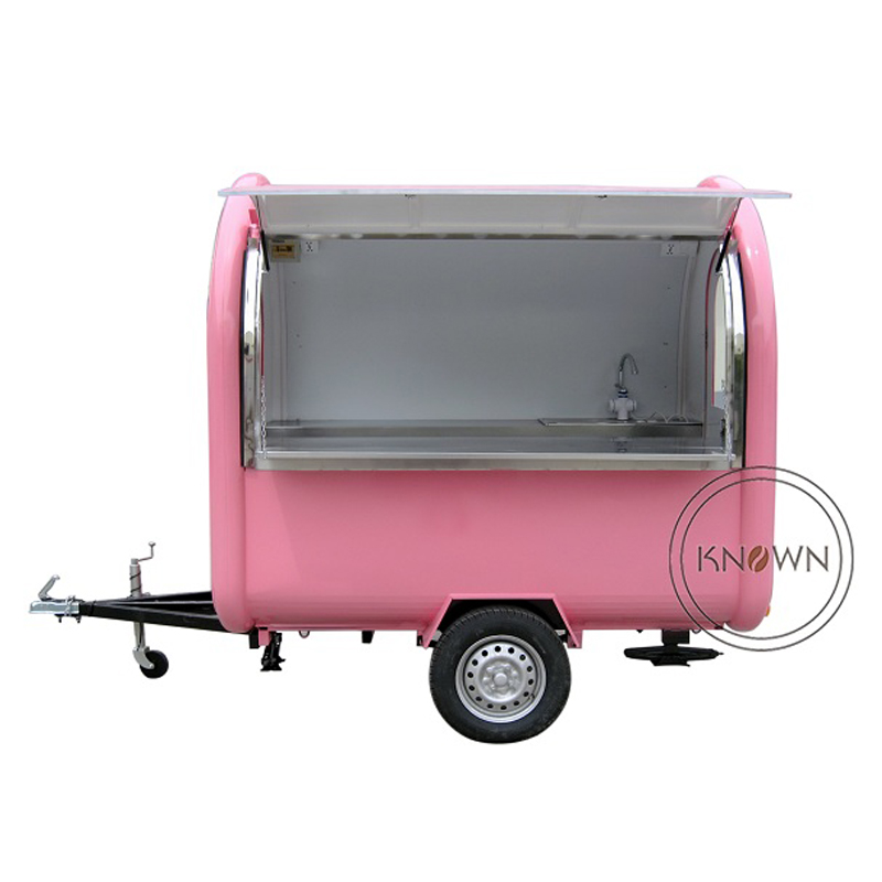 все цены на KN-220B mobile food carts/trailer/ ice cream truck/snack food carts for different colors with free shipping by sea