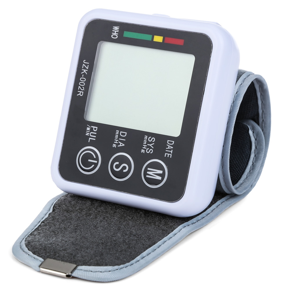 Digital Wrist Blood Pressure Monitor Health Monitor Automatic Wrist Pulse Blood Pressure Monitor Meters Sphygmomano health care wrist pressure monitor digital blood glucose watch