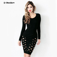 ERDAOBEN High Quality Winter Long Sleeve Party Dress Womens Sexy Dresses Party Night Club Dress DR722