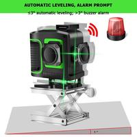 12 линий зеленый свет лазерный уровень с кронштейном лазерный луч линия самонивелирующийся