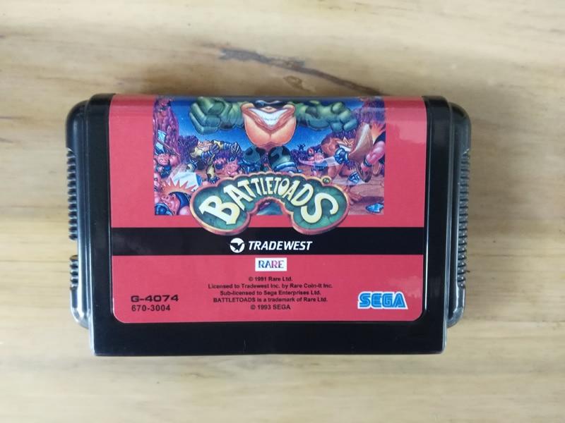 MD Game : BATTLE TOADS ( Japan Version!! )