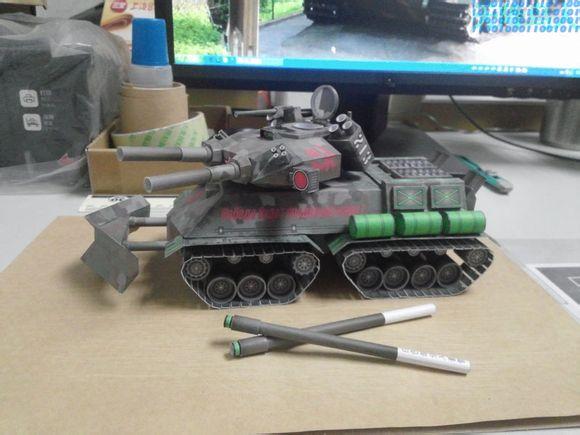 Red Alert 2 Republic Of China Glow Yuri Revenge Apocalypse Tank 3d Paper Model DIY
