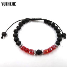 Muti-color Mens Bracelets 6mm Black lava stone tiger eyes crystal Beads Bracelet For Women Reiki Prayer Yoga Bracelet Stones(China)
