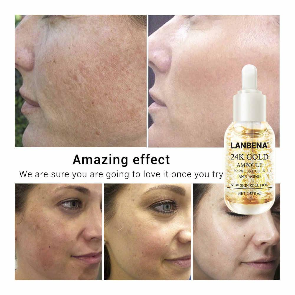 LANBENA золотистое шелковое + серебряными шелковыми нитями + 24K Gold ампулы Сыворотки Коллагена анти-старения уменьшает морщинки пятна увлажняющий и укрепляющий кожу по уходу