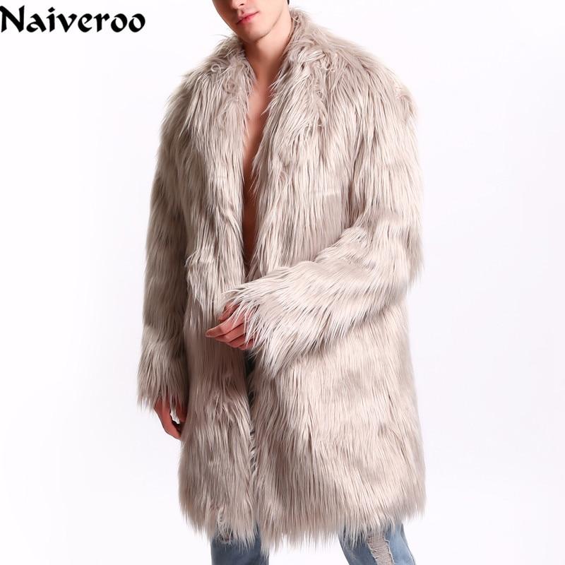 Naiveroo Parka-Jackets Outwear Fur-Coat Faux-Fur North Winter Mens Brand Windbreaker