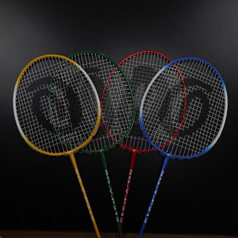 Professional Badminton Racket Lightweight Ferroalloy Nylon Sports Game With Storage Bag