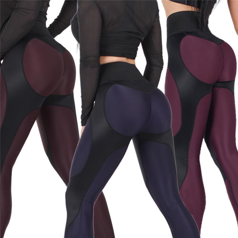 Women High Waist Patchwork Leggings Pants Women Fitness Push Up Leggings Activewear Workout Legging Streetwear S-XL