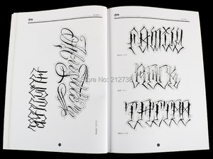 Image 5 - A4 Chicano Calligraphy Font Lettering Tattoo Book Writing Design Pattern Template Design Tattoo Flash Book (78 Pages)