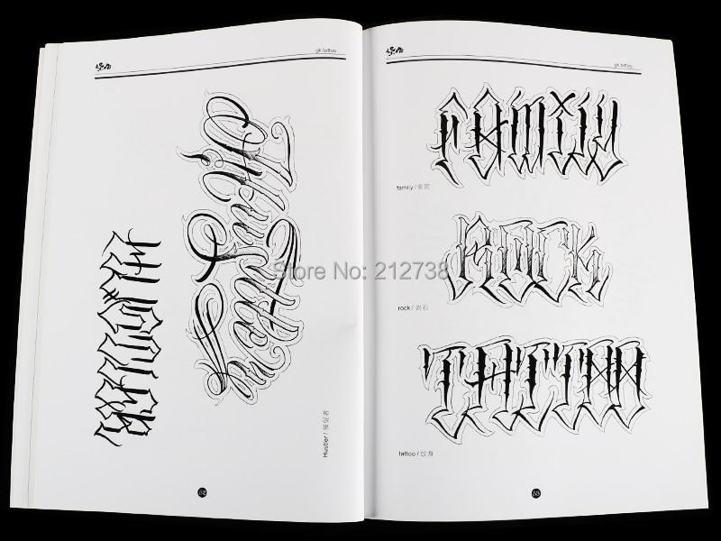 A4 Chicano Calligraphie Police Lettrage Tatouage Livre Ecriture Conception Modele Modele Conception Tatouage Flash Livre 78 Pages Aliexpress