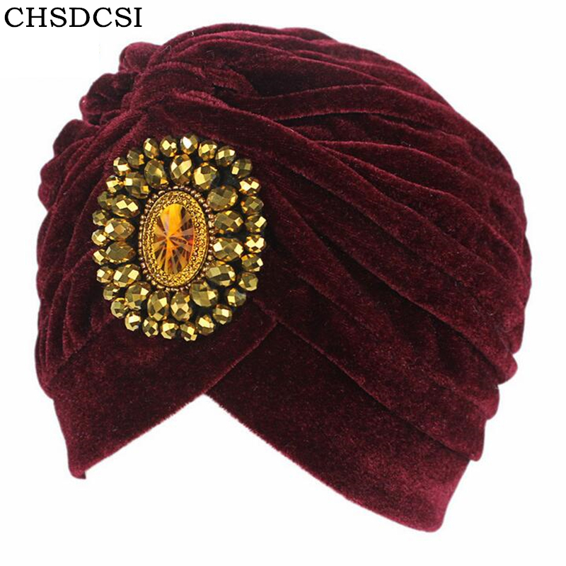CHSDCSI Pleuche Women Turban Caps Twist Dome Caps Head Wrap Europe Style India Hats Womens Beanies Skullies For Fall And Spring pastoralism and agriculture pennar basin india