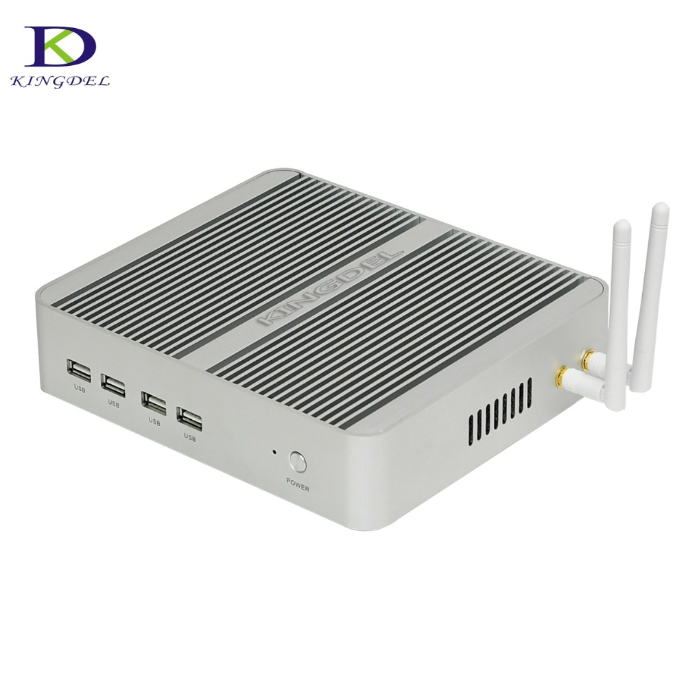 Fanless Mini Computer DDR4 6MB Cache NC740 Mini PC With Intel Dual Core I5 8250U I3 8145U Intel UHD Graphics 620 HTPC HDMI VGA