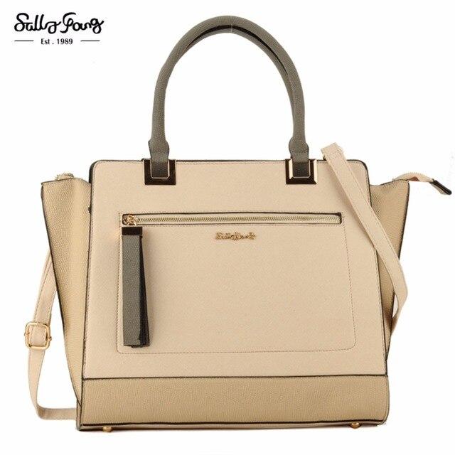 2017 Sally Young International Brand Patchwork Fashion Metal Pendant Women Tze Lady Handbags Bags Sy1641
