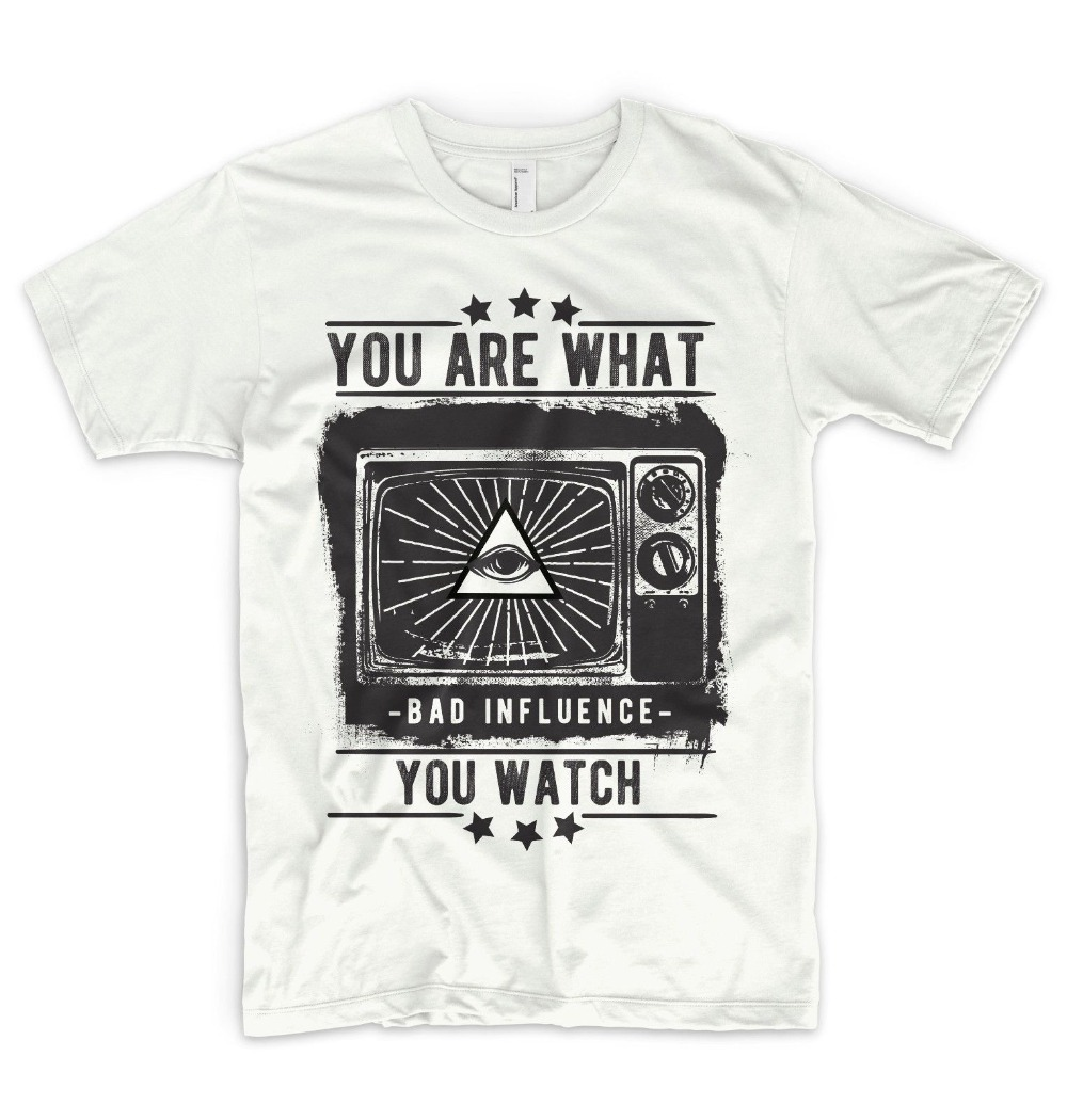 Illuminati T Shirt Mind Control Ufo Mason Eye Triangle Brand Summer Men Cotton Clothing High Quality Custom Graphic Shirts