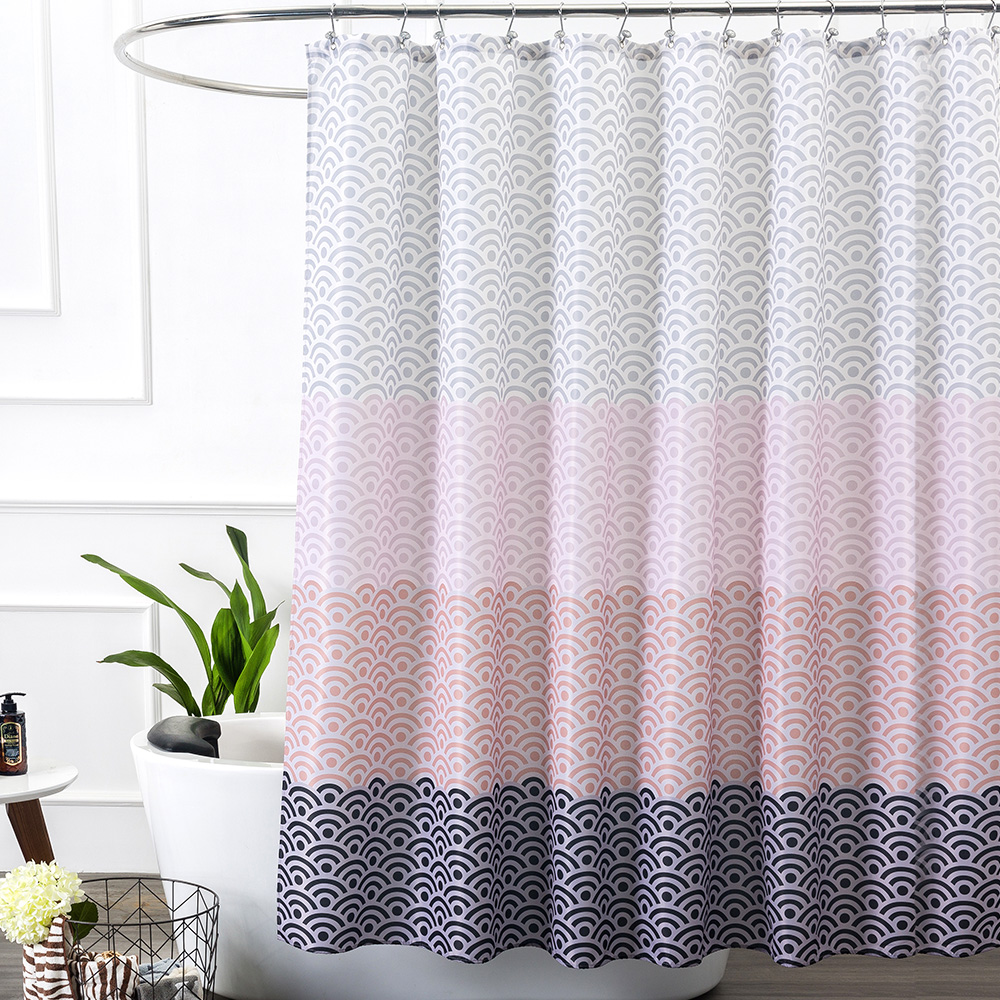 popular geometric shower curtainbuy cheap geometric shower  - aimjerry longer pink bathtub bathroom shower curtain fabric liner with hooks wxh inch waterproof and