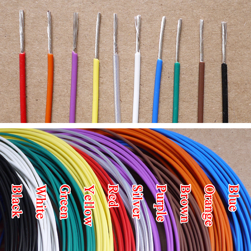 1.5mm 20AWG Silver Plated Teflon PTFE Wire Silver Plated Oxyten Free ...