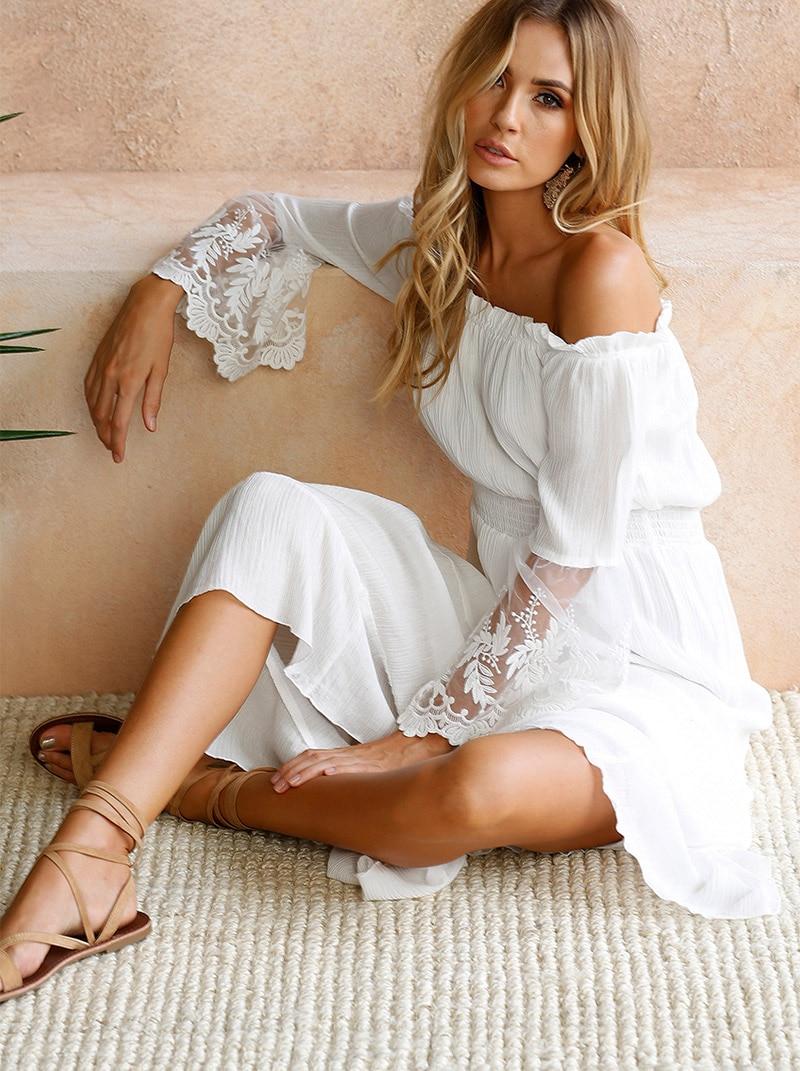 White Beach Dress Women Summer (5)