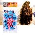 12 pcs Ferramenta Do Cuidado de Cabelo Bolas Sólidas DIY Kit Tratamento Suave Ondulação Rolos De Plástico Clips