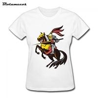 Women T Shirts Kawaii Short Sleeve 100 Cotton General Ride Horse Robbert King Printed T Shirt