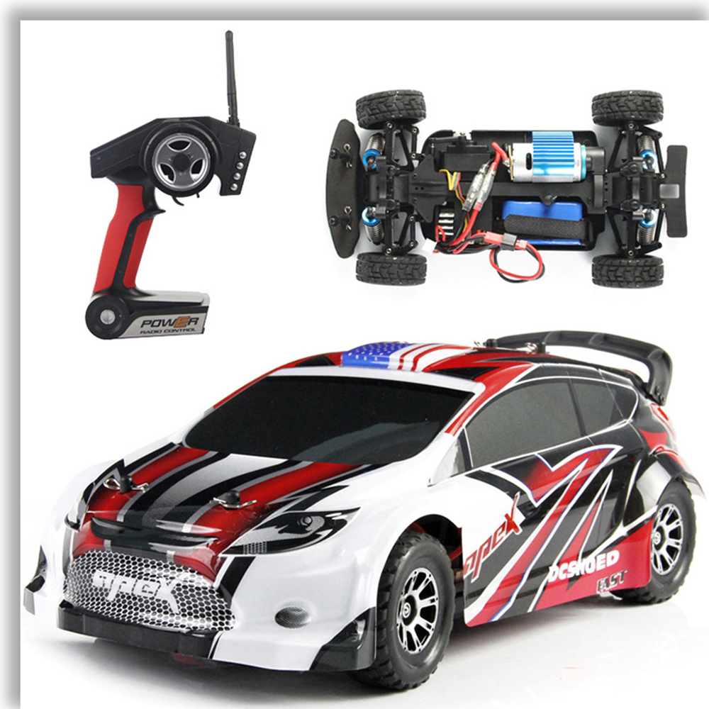 WLtoys A949 1:18 Remote Control Racing Car High-sped Off-road 4WD Drift Race Racing Car Model Toy Kids Gift wltoys 12401 12402 12403 12404 2 4g 1 12 4wd remote control drift off road car bigfoot car short truck competition racing car