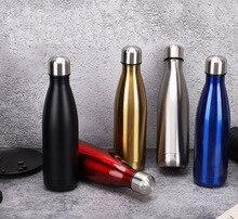 350-1000 мл наружная бутылка для воды Пуля термосы из нержавеющей стали термосы изоляционная кружка вакуумная кружка Термокружка