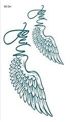Rocooart HC151-175 Waterproof Fake Tattoo Styling Tools Stickers Snake Pistol Black Feather Temporary Tattoos Body Art Tattoo 46