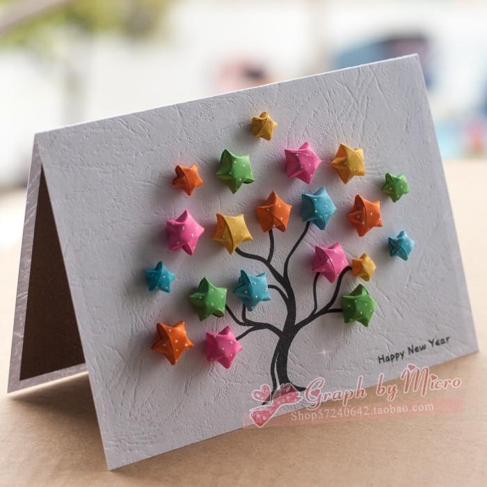 free shipping high quality greeting card gift handmade