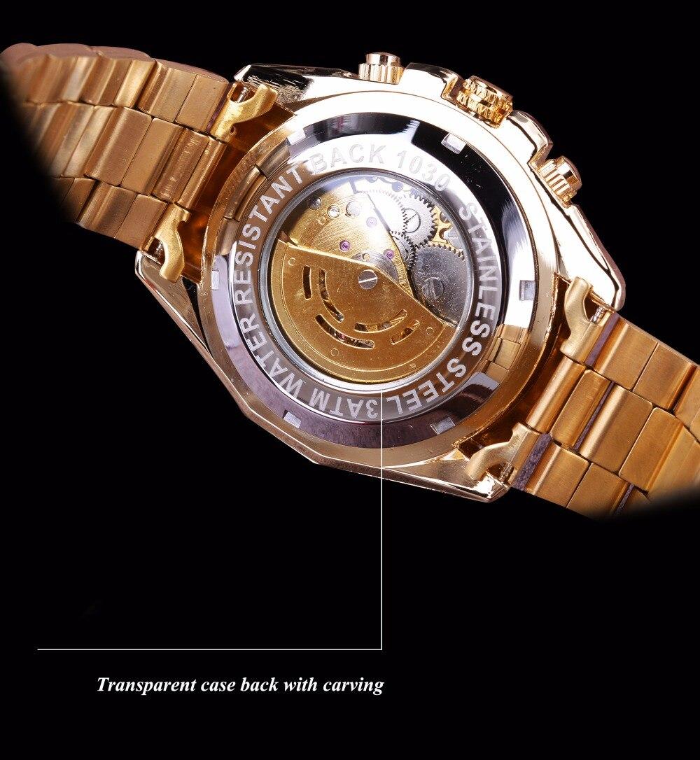 esqueleto de aço inoxidável design luxo relógio