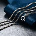 70 cm de Cadena Larga Collar de 925 Cadenas de Plata Esterlina 45 50 55 cm Gargantilla para Las Mujeres Collares Tailandeses S925 Solid Silver Jewelry Making