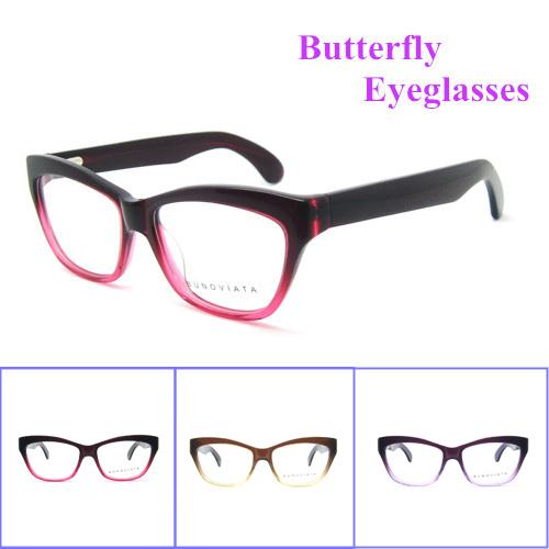 Hot 2016 New Arrival Patchwork Top fashion Mulheres Frame Ótico Óculos Armação Dos Óculos de Acetato de Alta qualidade óculos de Miopia B140248