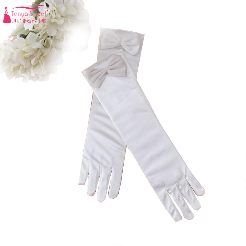 Girl Princess Gloves Wedding Party Dress Accessory Gloves Flower Girl Gloves