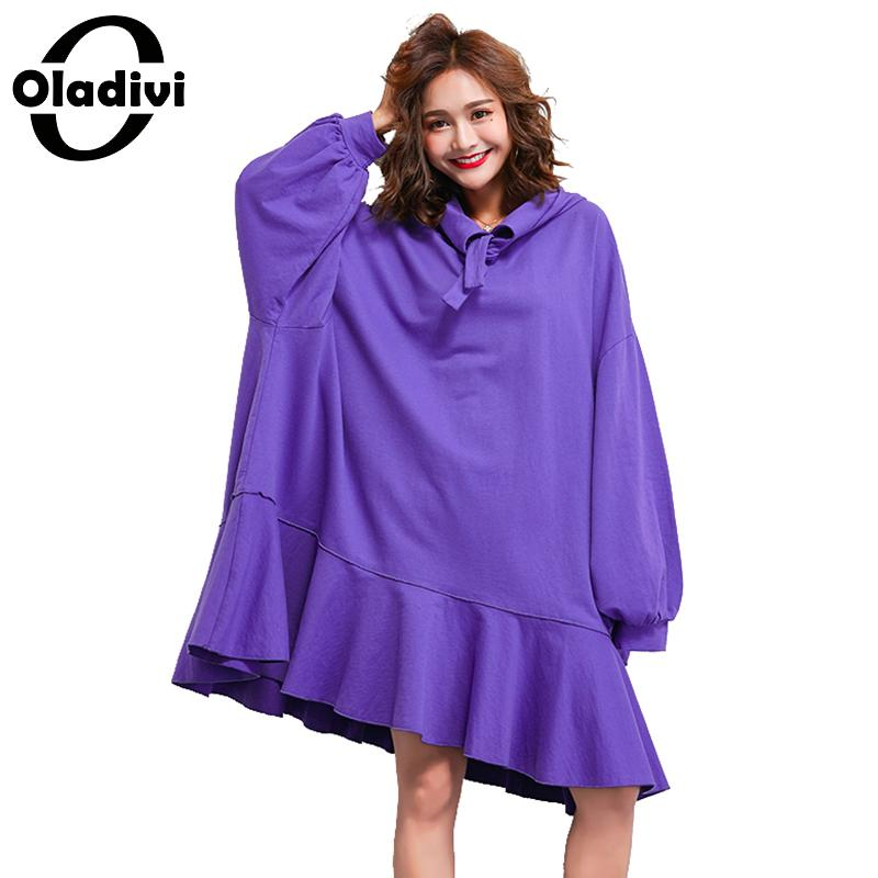 Oladivi Marque Surdimensionné Robe Plus La Taille Des Femmes Vêtements Dames Occasionnels Lâche Robes Longues Femme Haut Tunique Robe 10XL 9XL 8XL 7XL