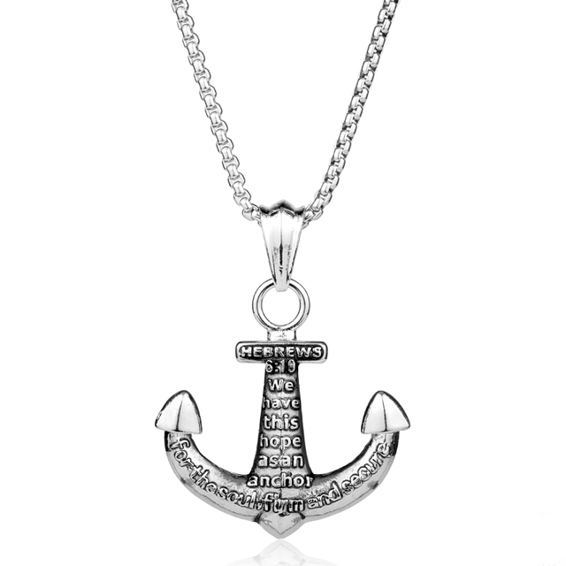 Vintage mens nautical anchor necklace sea ship luck navy ship vintage mens nautical anchor necklace sea ship luck navy ship pendant necklace men friendship charm chain aloadofball Choice Image