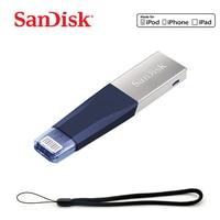 SanDisk usb flash Drive 128GB Pen Drive USB 3.0 PenDrive USB Stick double interface for iPhone iPad APPLE MFi