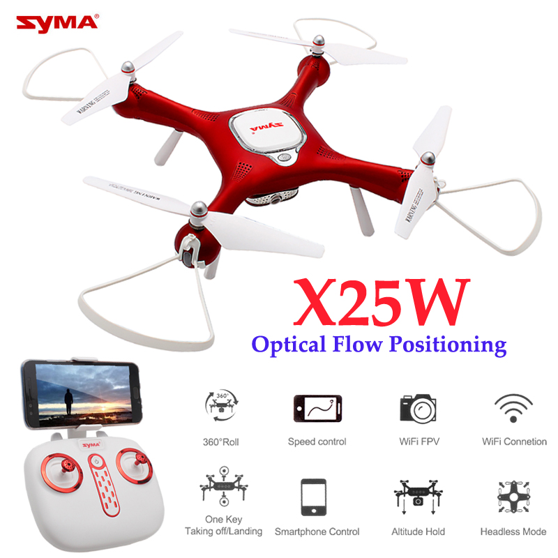 Syma X25W Dron FPV Drone With Camera HD 720P Optical Flow Positioning Quadcopter Adjustable Wifi Quadrocopter RC Helicopter x8sw quadrocopter rc dron quadcopter drone remote control multicopter helicopter toy no camera or with camera or wifi fpv camera