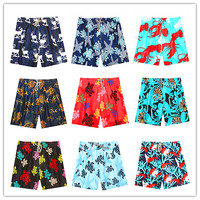 2018 Brand Vile Men Beach Swimwear Turtle Octopus Shrimp Board Shorts Man Stretch Swimtrunks Black White Blue Red Yellow Green