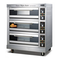 Commercial Electric oven 1200w baking oven baking oven 3 layers 6 pans gas oven baking bread cake bread Pizza machine FKB 3 1pc