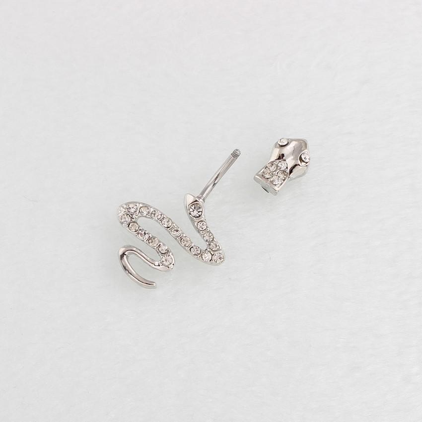 HTB1ExlZLpXXXXahXVXXq6xXFXXXA Sterling Silver Belly Button Crystal Encrusted Serpent Ring For Women