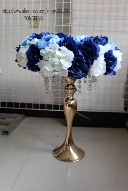 10 pçs/lote flores da tabela Do Casamento decoração peça central Da Tabela do Casamento artificial rosa flor fundo da parede flor bola TONGFENG