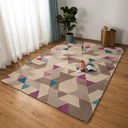 Ins dziewczyna bawełna dziecko dywan do salonu  geometryczny  kratka  fioletowy dania dywan bohemia geometrii nowoczesne mata projekt dla dzieci w stylu nordyckim w Dywany od Dom i ogród na