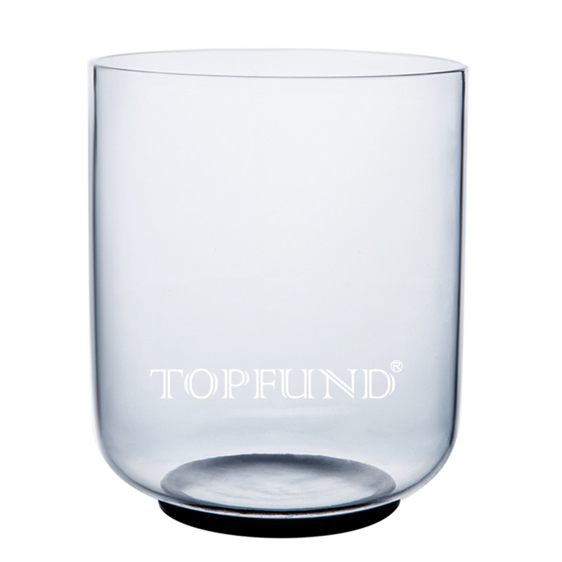 TOPFUND E Note Solar Plexus Chakra Clear Quartz Crystal Singing Bowl 6 ,O ring and Mallet included,For Meditation