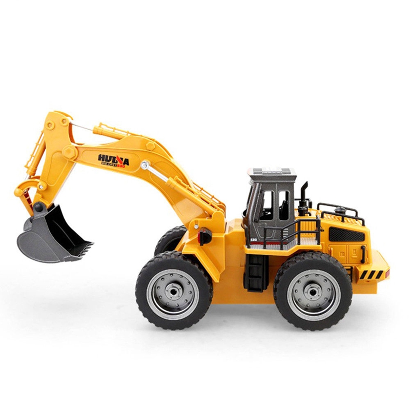 HUINA 1530 1:18 2.4G Six-channel Alloy RC excavator Truck Toy
