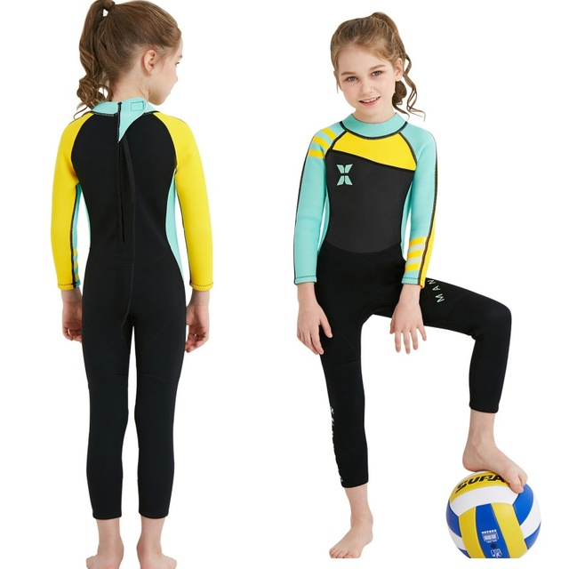 1b1bb3b85cc1f Kids Diving Suit Wetsuit 2.5MM Neoprene Kids Wetsuit children for boys  girls One-piece Long Sleeves UV protection Swimwear
