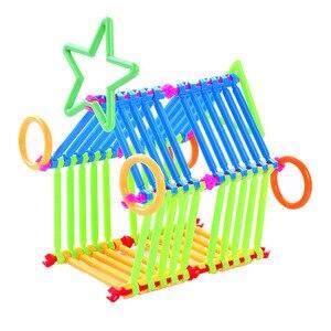 Image 4 - 500 יחידות התאסף אבני בניין DIY חכם מקל פלסטיק בלוקים דמיון יצירתיות למידה חינוכית צעצועי ילדי מתנה