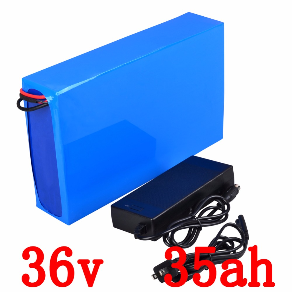 Electric bicycle battery 36v 35ah 1800w lithium battery 36v with 5A charger for e bike scooter kit motor Duty / shipping free 5pcs lot rechargeable deep cycle 36v 15ah lithium ion battery pack for electric bike scooter parts 36v 500w motor kit with usb