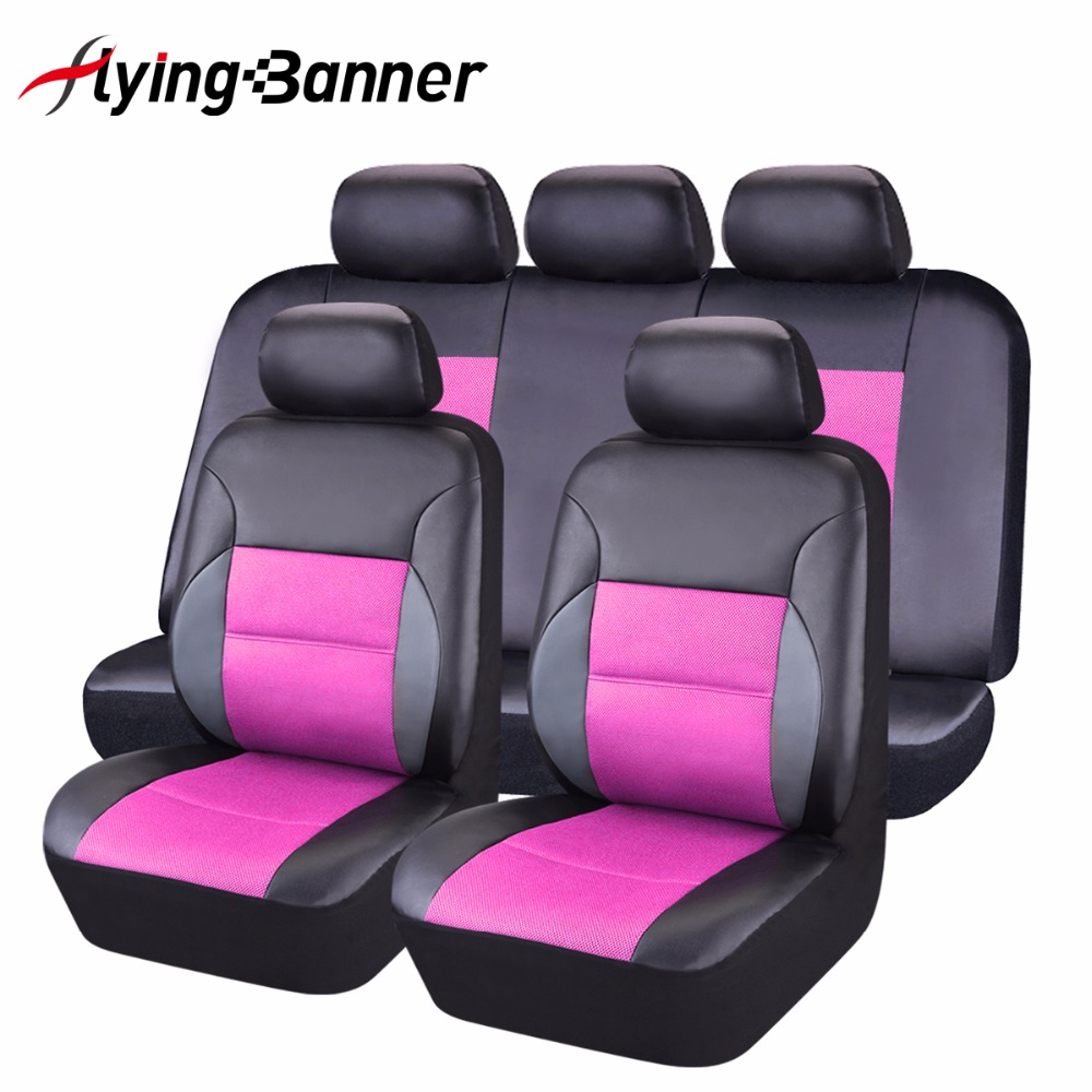 Fashion universal cover seat car 11pcs full seat covers for Housse sieges voiture